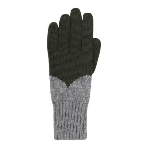 Hunter Dark Olive/Grey Moustache Gloves