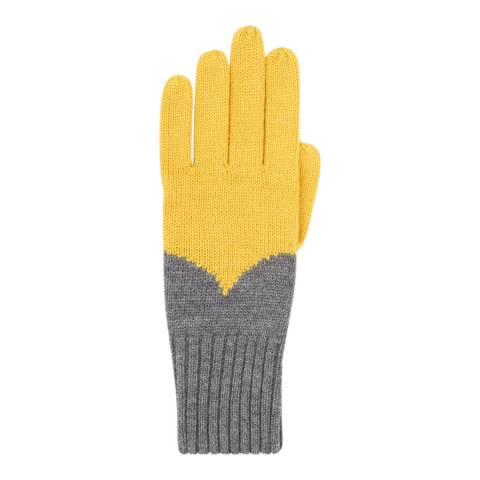 Hunter Yellow/Grey Moustache Gloves