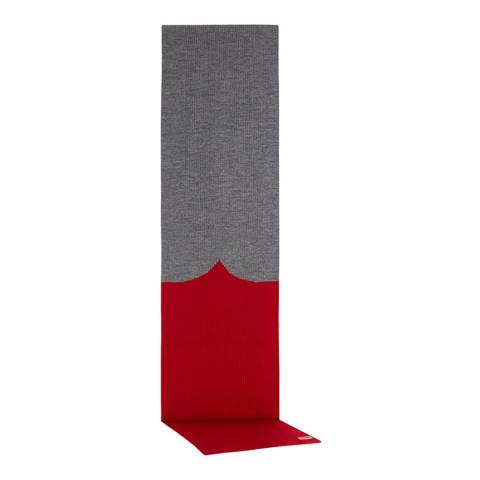 Hunter Military Red/Grey Moustache Scarf Merino Wool