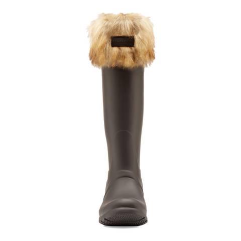 Hunter Tawny Tall Boot Sock Faux Fur Cuff