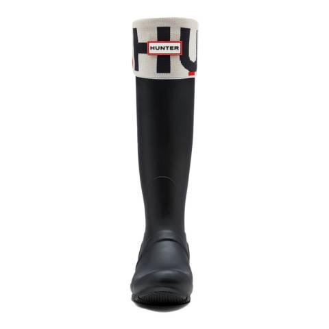 Hunter Exploded Logo Cuff Boot Socks
