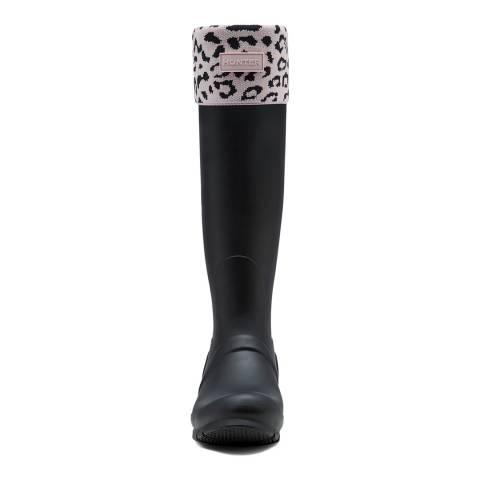 Hunter Haze Pink Boot Sock Leopard Cuff