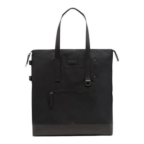 Hunter Black Canvas Moustache Tote