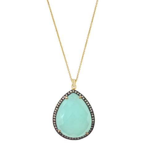 Liv Oliver Chalcedony Pear Drop Necklace