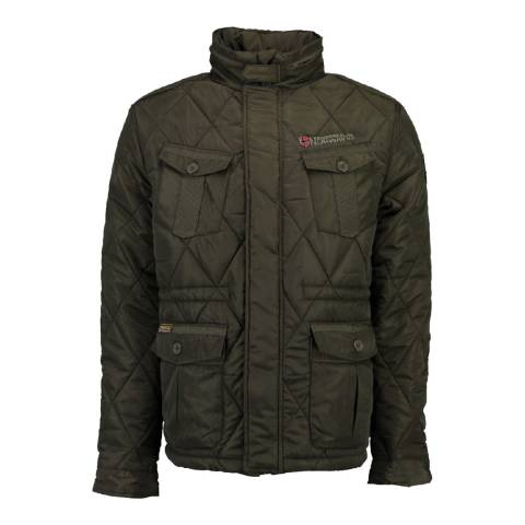 Geographical Norway Boy's Andrew Khaki Quilted Coat