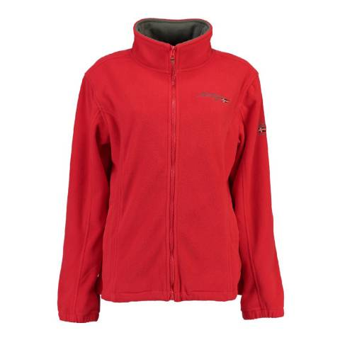 Geographical Norway Girl's Usky Red Fleece