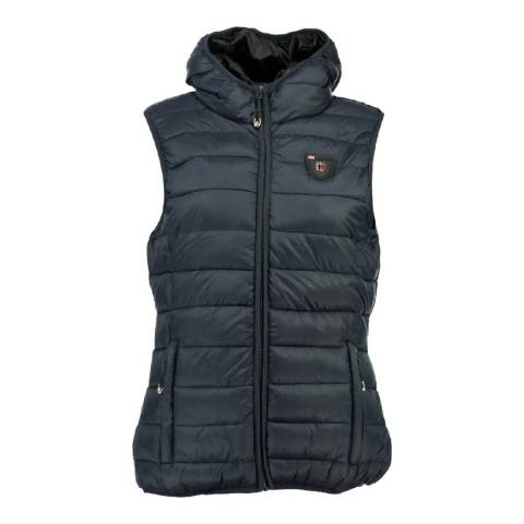 Geographical Norway Girl's Volantis Navy Hooded Gilet