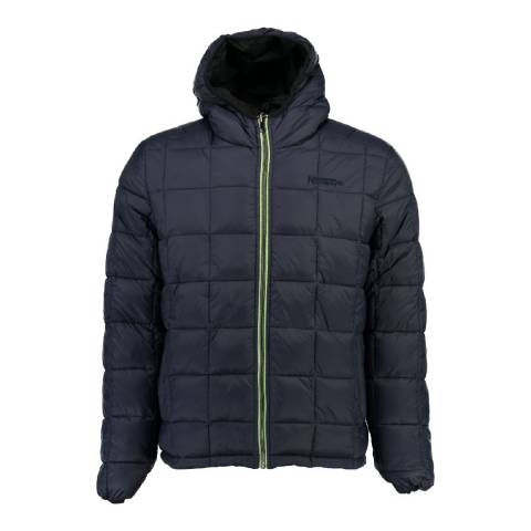 Geographical Norway Boy's Alias Black Navy Reversible Hooded Coat