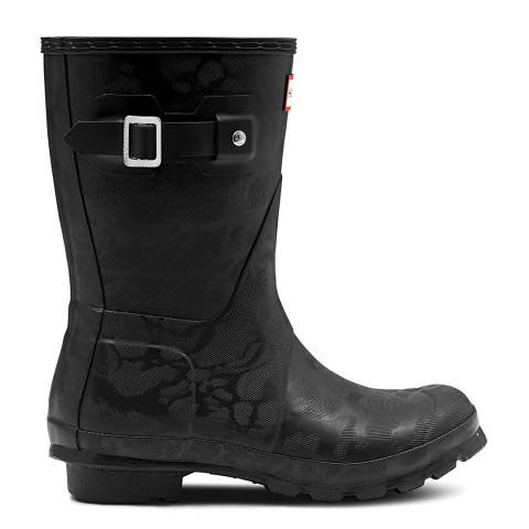 Hunter Black Original Insulated Buckle Short Boots