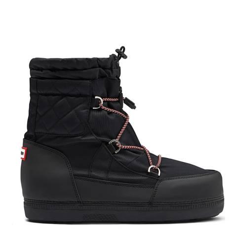 Hunter Black Original Snow Short Quilted Boots