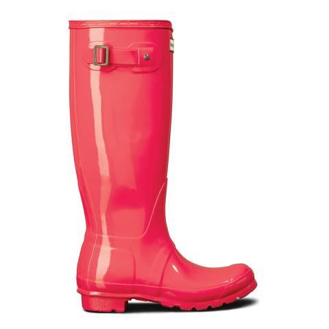 Hunter Hyper Pink Original Tall Gloss Boots