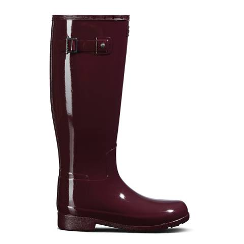 Hunter Oxblood Original Refined Wide Fit Boots