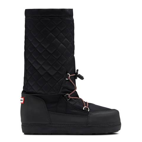Hunter Black Original Snow Quilted Boots