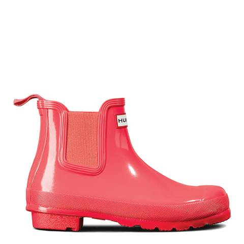 Hunter Hyper Pink Original Gloss Chelsea Boots