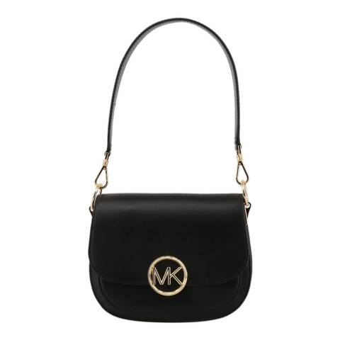 Michael Kors Black Lillie Small Saddle Bag