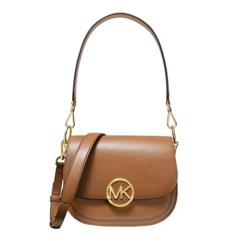 Michael Kors Brown Lillie Small Saddle Bag