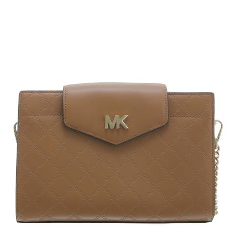 Michael Kors Brown Crossbody Chain Clutch