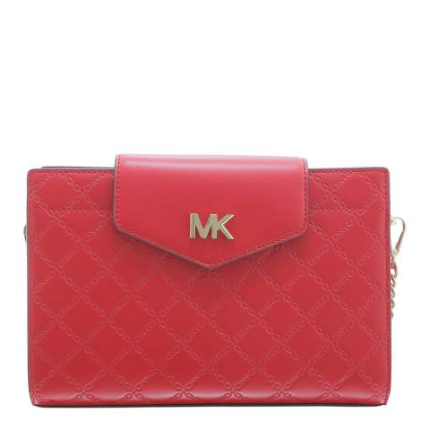 Michael Kors Bright Red Crossbody Chain Clutch