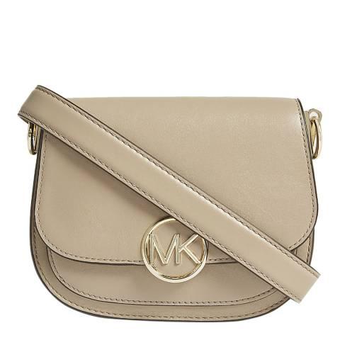 Michael Kors Cream Lillie Small Saddle Bag