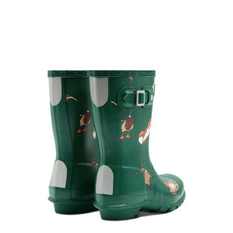 99fc0de499e5 Hunter Little Kids Green Highland Print Wellington Boots. prev