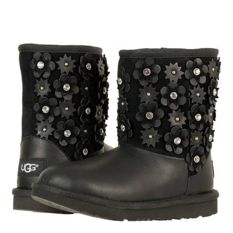 UGG T Black Classic Short II Petal Boot