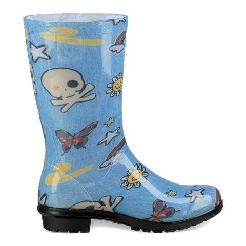 UGG Blue Raana Patches Rain Boot