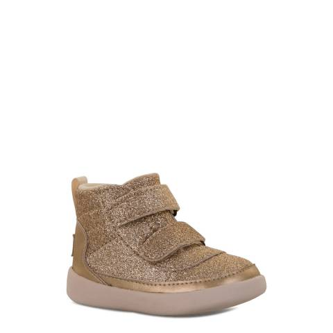 UGG Toddler Gold Sparkle Pritchard Trainer