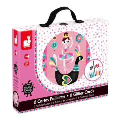 Janod Ballerina Glitter Cards