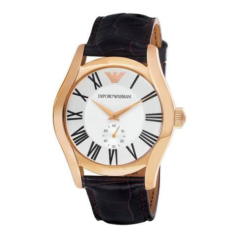Emporio Armani Men's Brown Emporio Armani Leather Strap Watch