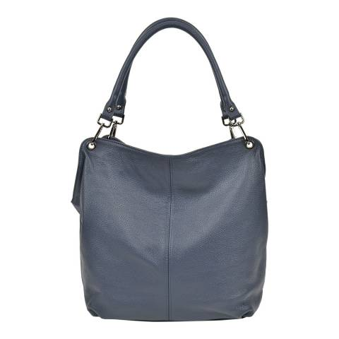 Anna Luchini BlueLeather Leather Top Handle Bag