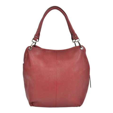 Anna Luchini Bordeaux Leather Top Handle Bag