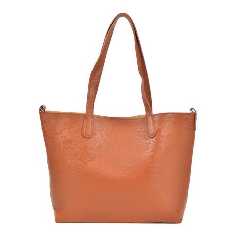 Roberta M Brown Leather Roberta Tote Bag