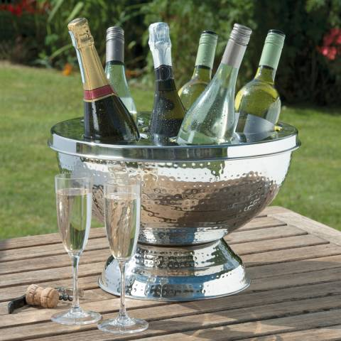 EDDINGTONS Hammered Finish 6 Bottle Wine/Champagne Cooler