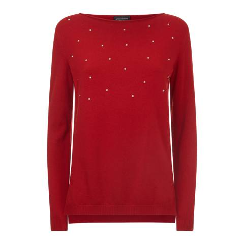 James Lakeland Red Strass Jumper