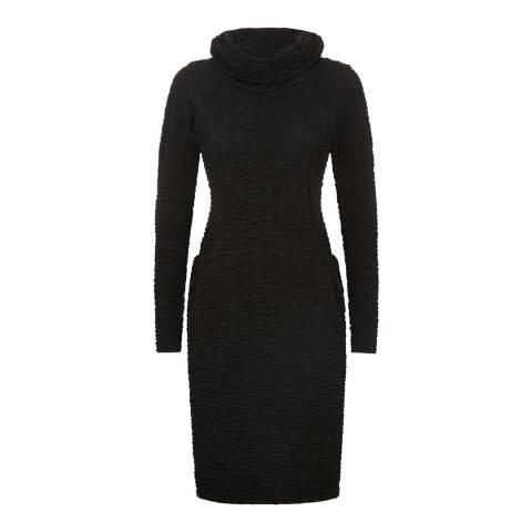 James Lakeland Black High Neck Pocket Dress