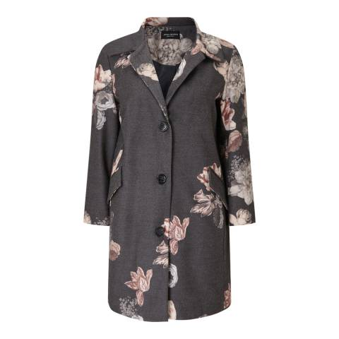 James Lakeland Grey Flower Print Coat