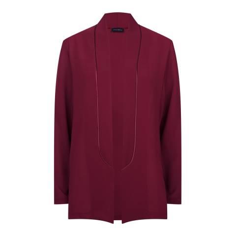 James Lakeland Burgundy Relaxed Tailored Jacket