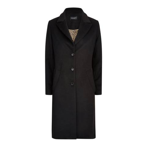 James Lakeland Black Tailored Three Button Coat