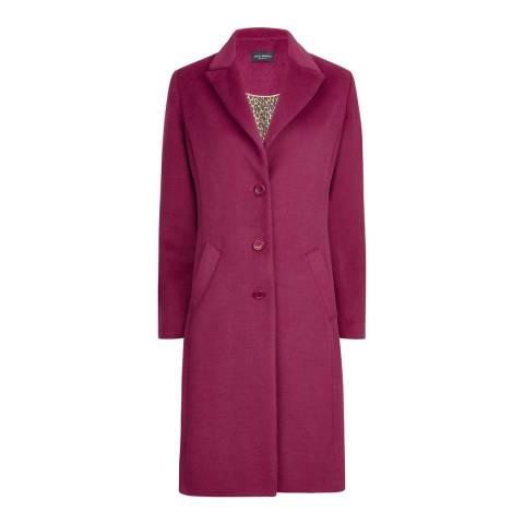 James Lakeland Pink Tailored 3 Button Coat