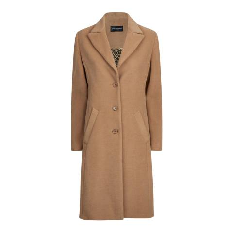 James Lakeland Camel Tailored 3 Button Coat
