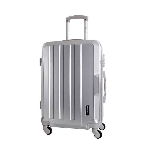 Travel One Silver Vilarosa 4 Wheeled Suitcase 56cm