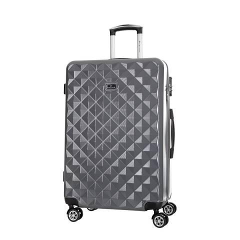 Platinium Grey Gregoria 8 Wheeled Suitcase 60cm