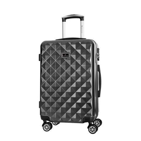 Platinium Black Gregoria 8 Wheeled Suitcase 60cm