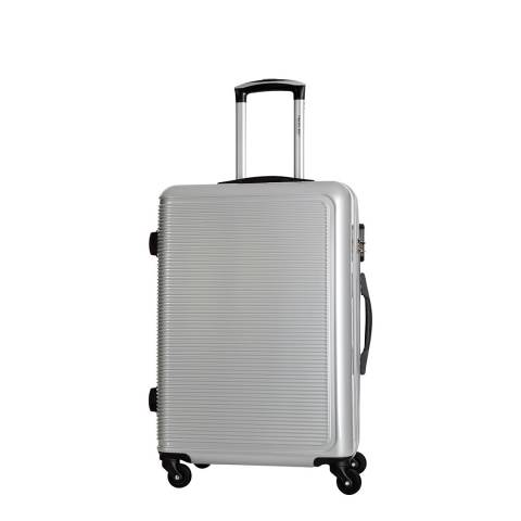 Travel One Silver Maryhill 4 Wheel Suitcase 48cm