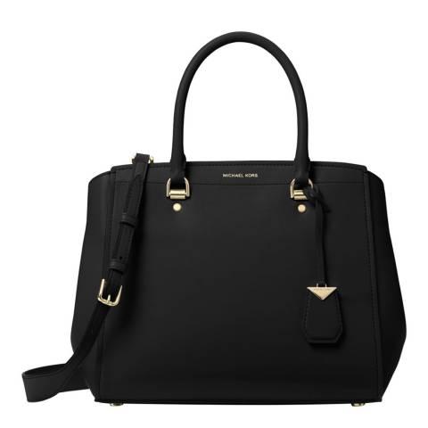 Michael Kors Black Benning Large Satchel Bag