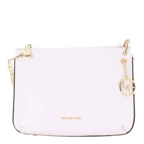 Michael Kors Optic White Classic Calf Leather Shoulder Bag