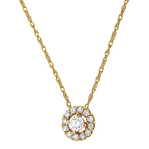 Only You Yellow Gold Diamond Necklace 0.05ct