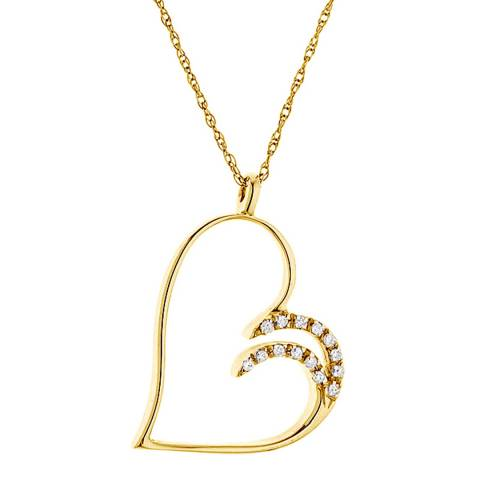 Only You Yellow Gold Diamond Necklace 0.15ct