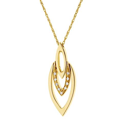 Only You Yellow Gold Diamond Necklace 42cm