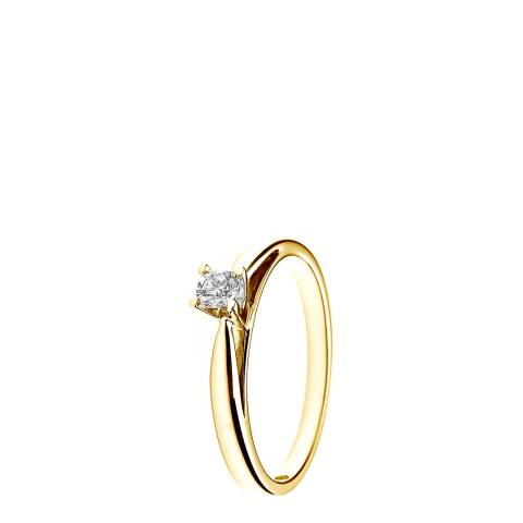 Only You Yellow Gold 0.15 cts Solitaire Diamond Ring
